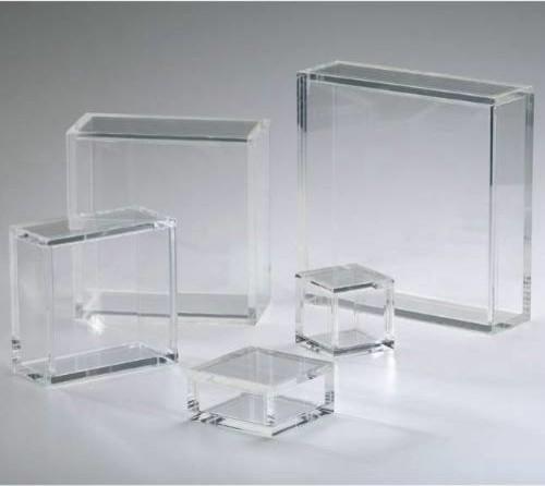 Cyan Design 01833 Square Acrylic Pedestal, Clear