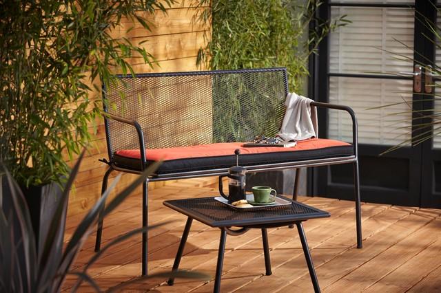 Modern Outdoor South East Adelaide Metal Garden Furniture Set contemporary-outdoor-benches