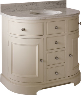 remarkable curved front bathroom vanity   Chichester 960 Curved Undermount Washstand