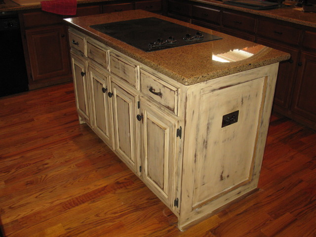 distressed barn finish for kitchen island other metro