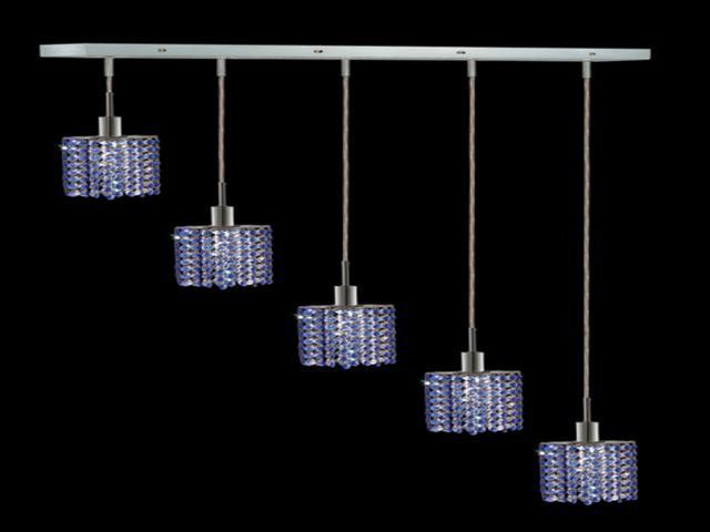 Elegant Lighting 1285D O E SA SS Mini 4 Light Pendants In