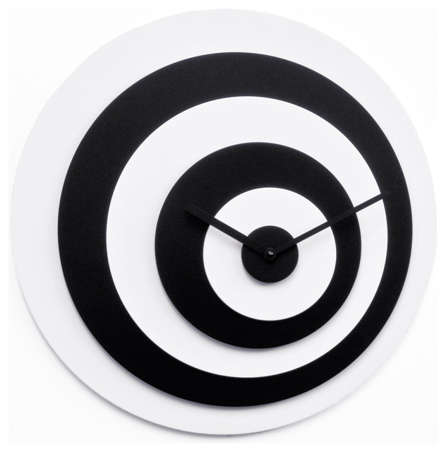 Target Wall Decor Clock : Target white black wall clock contemporary