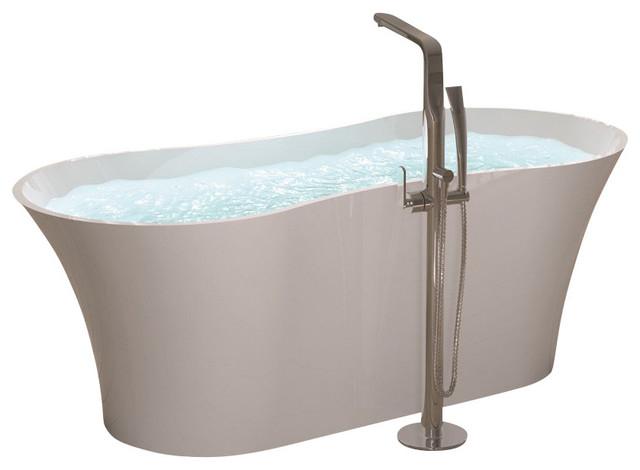 Adm White Solid Surface Stone Resin Bathtub Modern Bathtubs