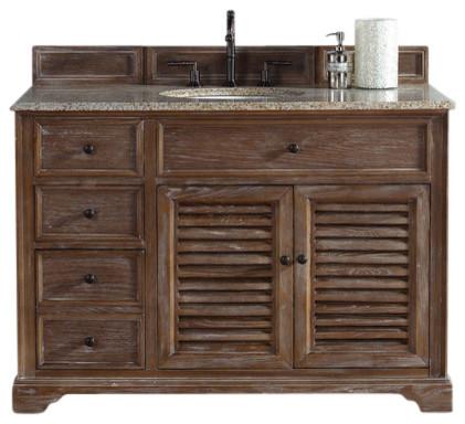 Savannah 48 Single Vanity Cabinet Driftwood Beach