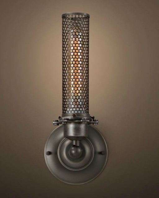 Iron Wall Sconces Lighting : Indoor Hollow Out Iron Wall Lighting - Modern - Wall Sconces