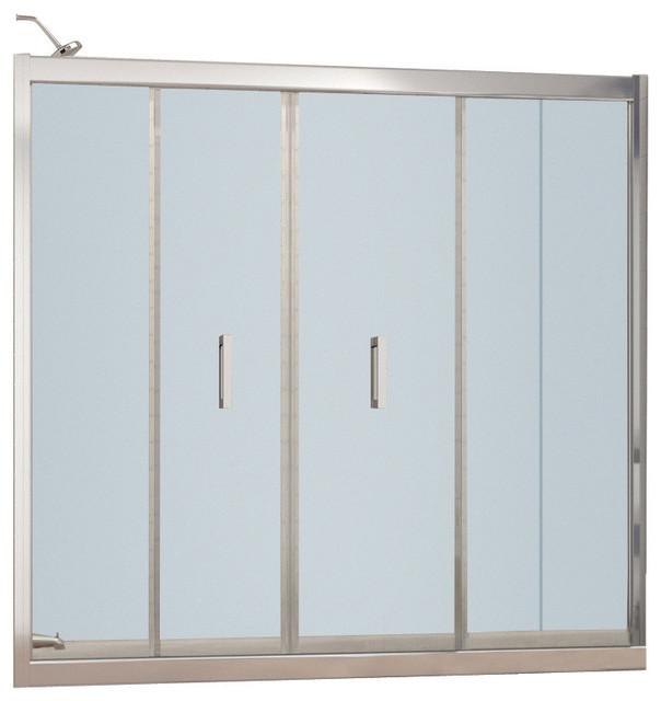 DreamLine SHDR 4558581 01 Butterfly Tub Door Modern Shower Doors By XOMART