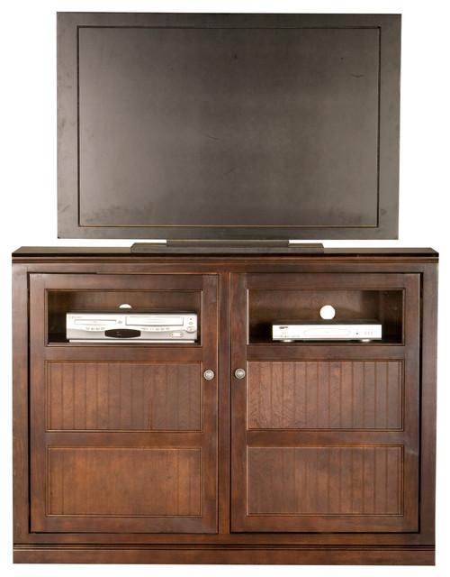 "Eagle Furniture 55"" Coastal Flat-Panel Entertainment Console, Caribbean Rum - Traditional ..."