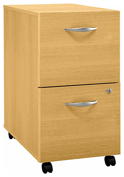 File Cabinet w Casters & Locking Bottom Drawer - Series C - Contemporary - Filing Cabinets - by ...