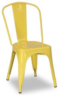 Tolix Chair Yellow Modern Dining Chairs Brisbane By BrisbaneFurniture