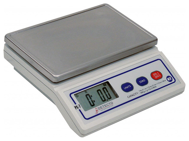 Detecto stainless steel portion scale digital white 7 for Traditional kitchen scales