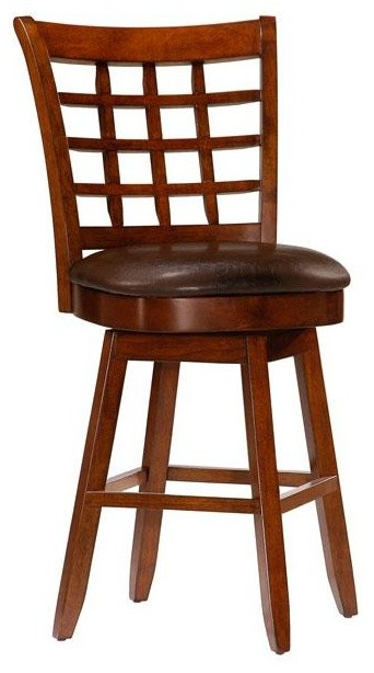 Tall Black Wicker Bar Stool With Back And Four Legs Also Footrest