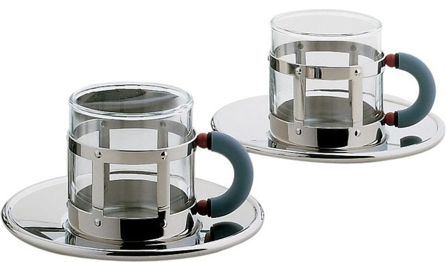 Alessi michael graves mocha cup set contemporary - Alessi dinnerware sets ...