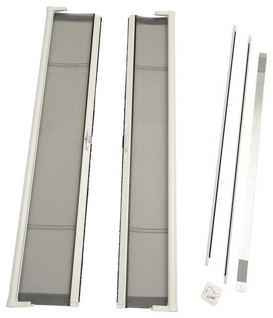 72 x80 brisa standard height double door kit retractable for Retractable screen door for double front door
