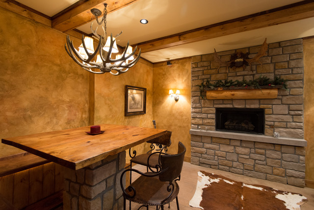 Refined rustic rustic basement cincinnati by for Rustic finished basement