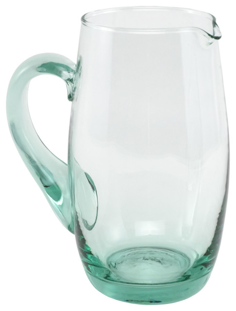 Spanish recycled glass water pitcher farmhouse pitchers by traders and company - Glass filtered water pitcher ...
