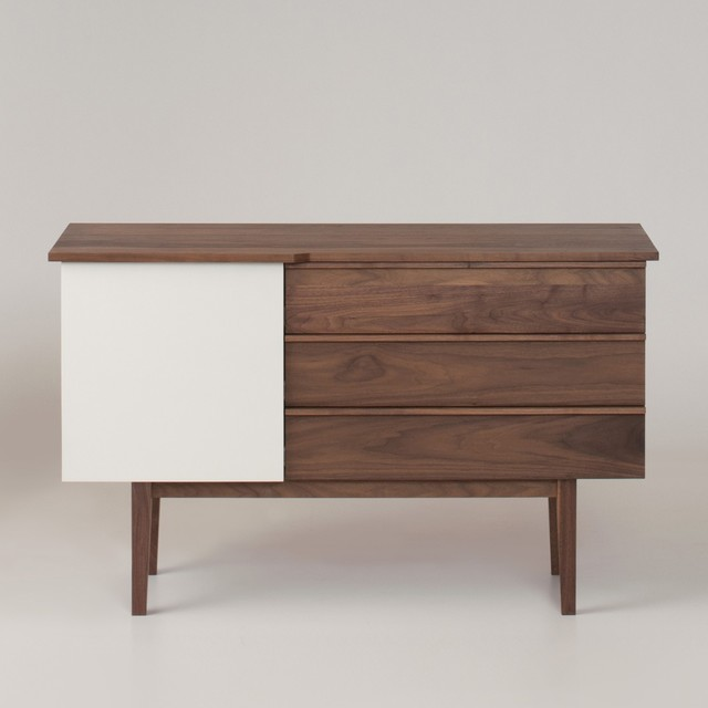 Pullman Walnut Credenza - Modern - Buffets And Sideboards ...