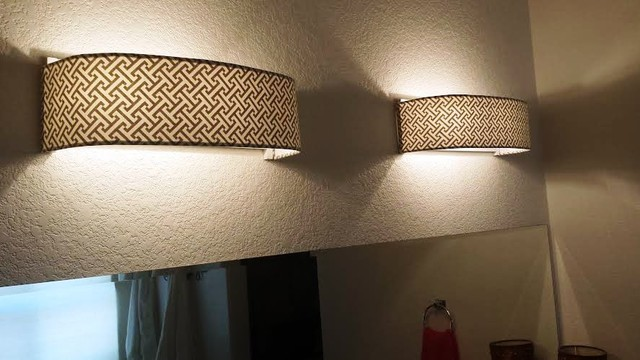 Vanity Lights Of Vegas : Custom Lampshade - Bathroom - Vanity - Cross Section Charcoal - Lampshade