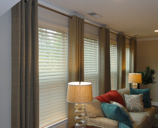 Curtain Rod For Grommet Panels - Curtains Design Gallery