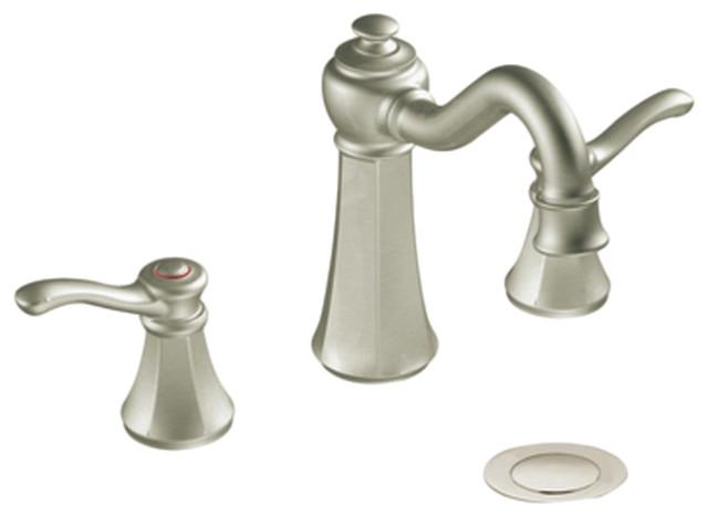 Moen T6305bn Brushed Nickel Bath Sink Faucet Trim Two Lever Handle Traditional Bathroom Sink
