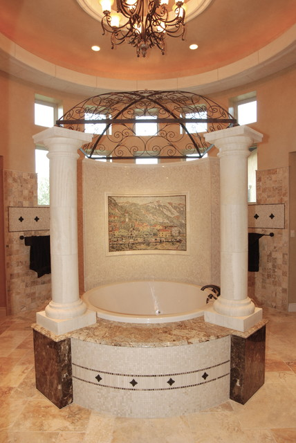 Elegant bathrooms in the texas hill country by stadler for Elegant country homes