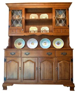 ... Early American Solid Maple Hutch - Modern - China Cabinets And Hutches