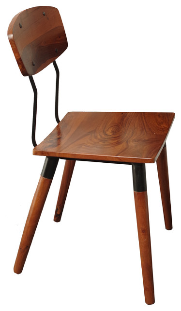 Industrial Wood And Iron Chair Industrial Dining