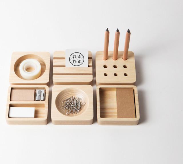 Tofu Stationery Set Modern Desk Accessories Other