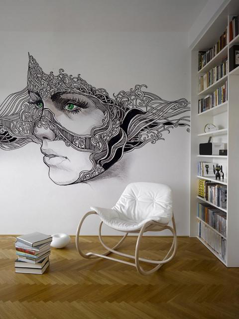 Phantasmagory Romantic Modern Wallpaper Other Metro By Pixers