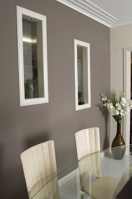 Beige und graue Wandfarben