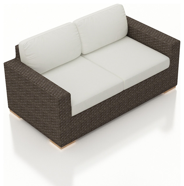 Arden modern outdoor loveseat contemporary outdoor loveseats by patioproductions Loveseat cushions for outdoor furniture
