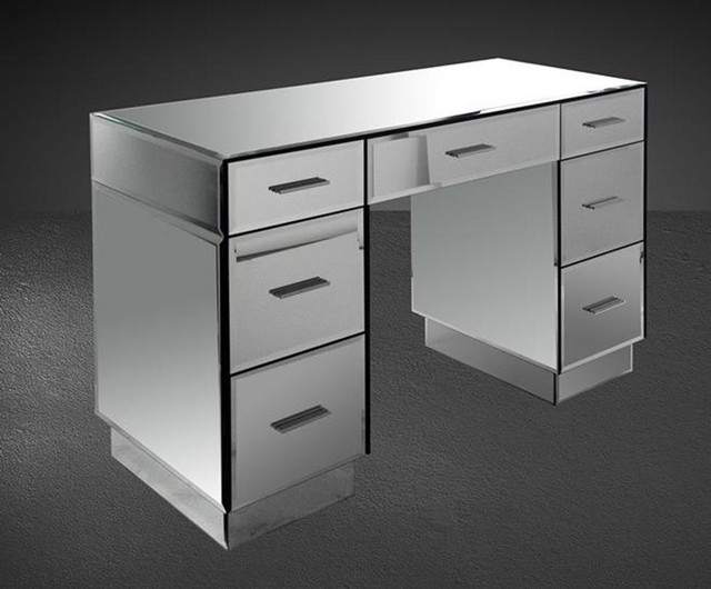 gerona modern mirrored bedroom vanity contemporary bedroom