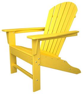 South Beach Adirondack Lemon Chair Modern Outdoor Lounge Chairs