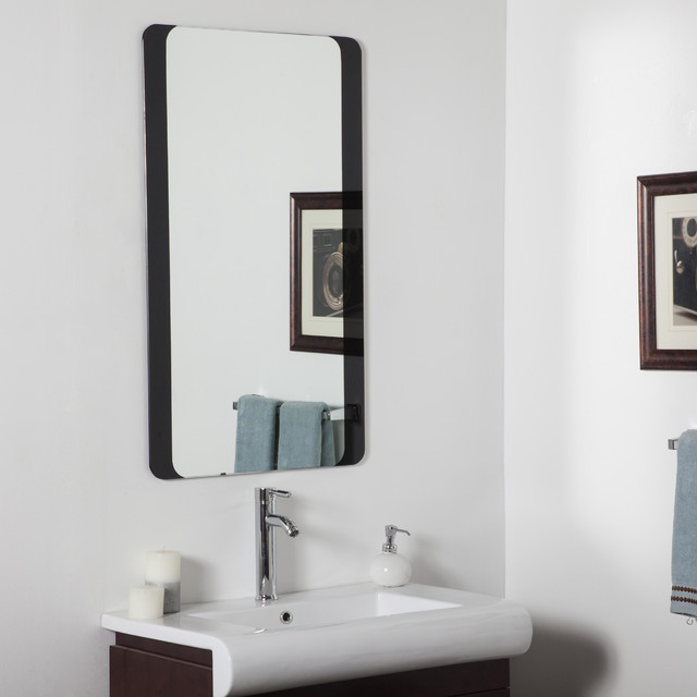 Modern Bathroom Mirrors : Large Bathroom Mirror - Contemporary - Bathroom Mirrors - by Overstock ...