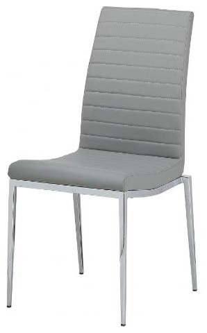 Upholstered Dining Chair in Gray Contemporary Dining