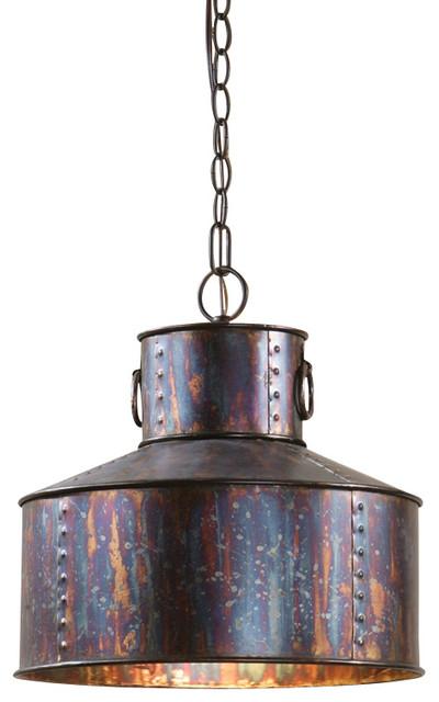Uttermost giaveno 1 light pendant oxidized bronze finish for Houzz rustic lighting