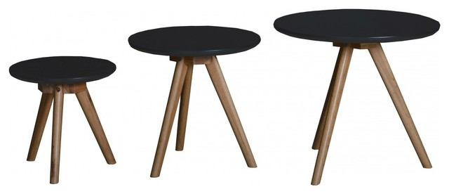 lot de 3 tables basses scandinaves en bois soren couleur. Black Bedroom Furniture Sets. Home Design Ideas