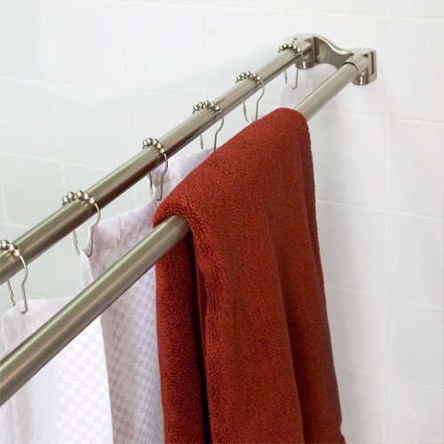 Double Shower Rod Eclectic Shower Curtain Rods New York By Tracey Stephens Interior