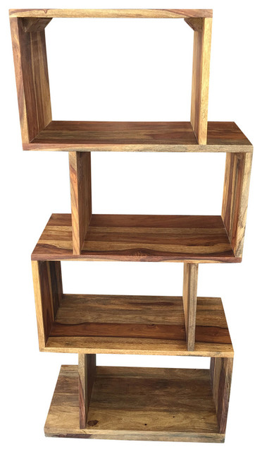 Solid Sheesham Wood Shelving Unit - Side Tables And End Tables - by Inspire at Home