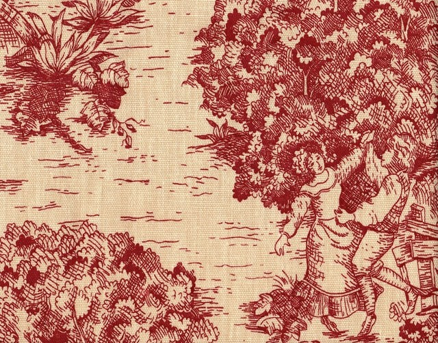 """96"""" Rod Pocket Curtain Panels, Crimson Toile, Unlined - Traditional ..."""