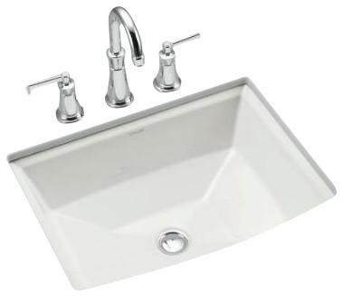 Kohler Archer Undermount Bathroom Sink : KOHLER K-2355-0 Archer Under-Mount Bathroom Sink contemporary-bathroom ...