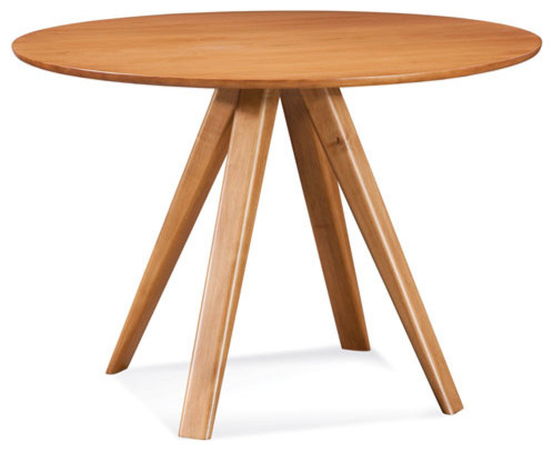 Avon 42 inch flax round dining table contemporary dining for 42 inch round dining table
