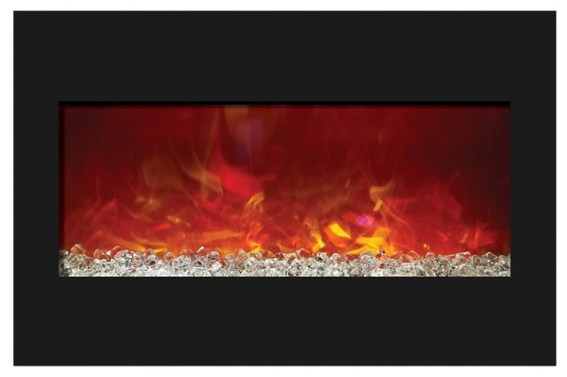 Amantii Zero Clearance Electric Wall Fireplace 33 Contemporary Indoor Fireplaces Portland