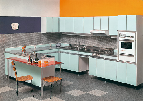 SieMatic, kitchen with integrated handles, 1960