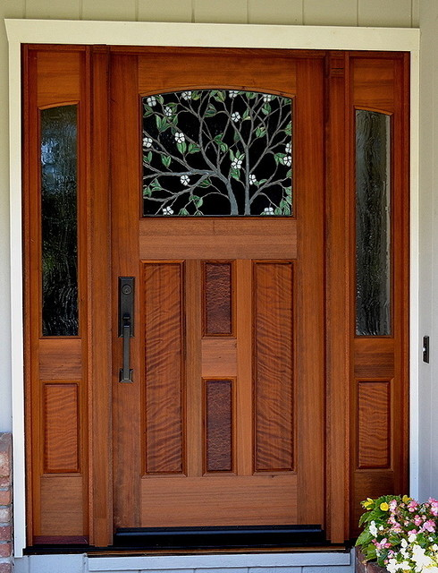 The dogwood entry traditional front doors san for Unique front entry doors