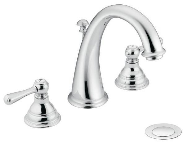 Moen Kingsley Series Bathroom Faucet 2 Handle Widespread Traditional Bathroom Sink Taps
