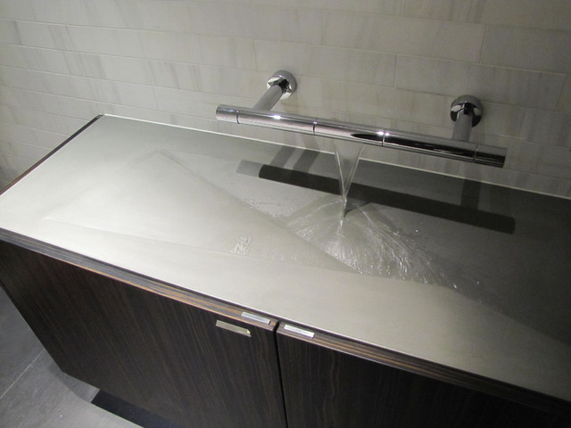 Concrete bathroom sink modern bathroom sinks new for Latest bathroom sinks