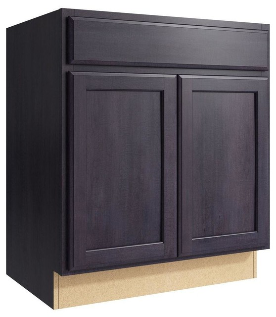 Cardell Cabinets Stig 30 in. W x 34 in. H Vanity Cabinet Only in Ebon Smoke - Contemporary ...