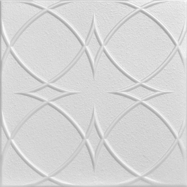 Circles And Stars Styrofoam Ceiling Tile 20 Quot X20 Quot