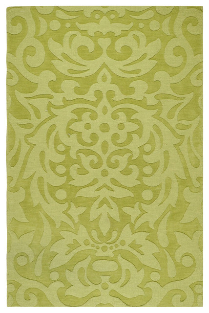 Green Damask Mystique Rug Modern Rugs By Rosenberry Rooms