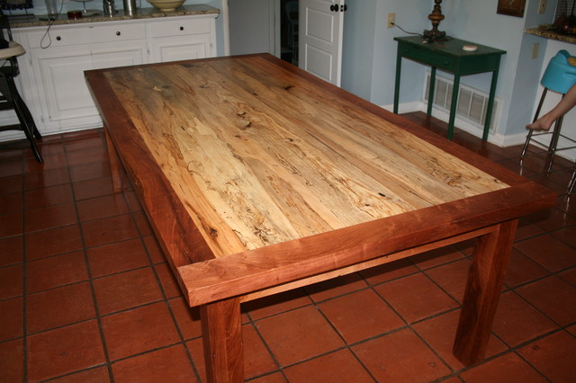 spalted pecan and mesquite dinning room table